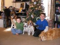 The whole family at Christmas